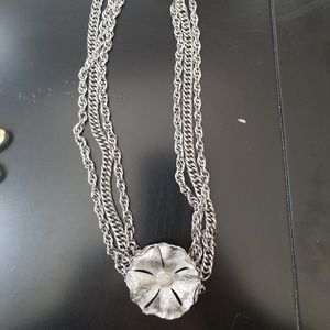 Silver Tone Neckless Signed TAN